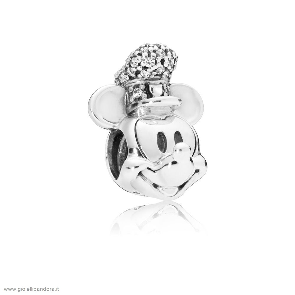 PANDORA Charm Disney, Portrait De Mickey Version Steamboat Willie Scintillant in Vendita Online