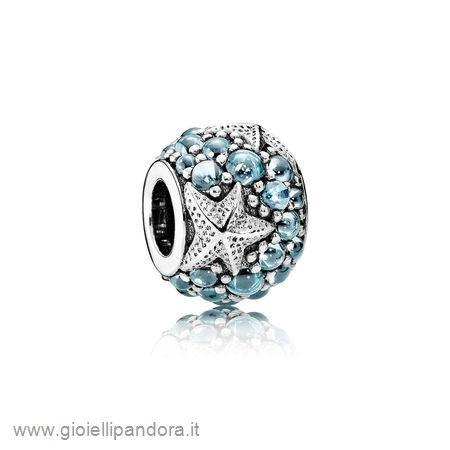 PANDORA Scintillante Paves Charms Stella Marina Oceanica Charm Frosty Mint Cz in Vendita Online