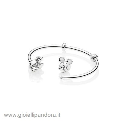 PANDORA Open Mix Mickey E Minnie In Argento in Vendita Online